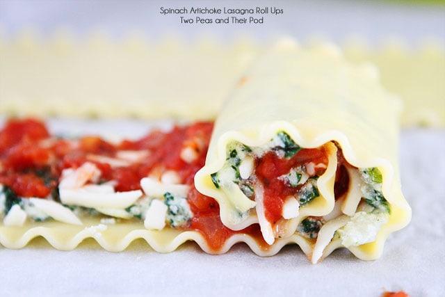 Lasagna Roll Ups | Spinach Artichoke Lasagna Roll Up ...