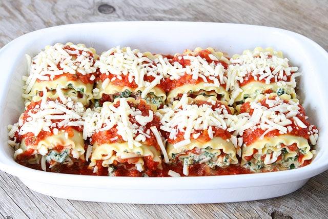 Easy Lasagna Roll Ups on twopeasandtheirpod.com