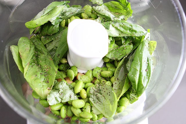 Edamame Basil Hummus | Edamame Hummus Recipe | Two Peas & Their Pod