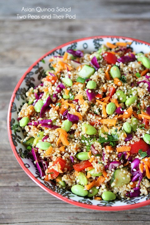 Asian Quinoa Salad Recipe on twopeasandtheirpod.com A quick and ...