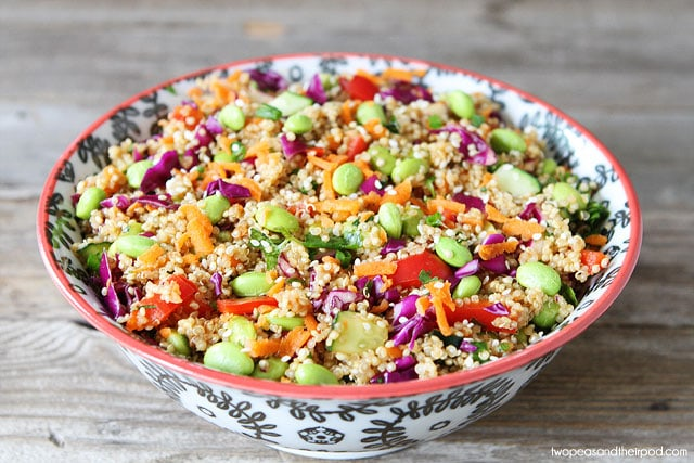 ... Asian Quinoa Salad. It is my new favorite and I think you will like it