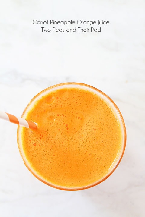 Carrot Pineapple Orange Juice {Breville Juicer Giveaway}