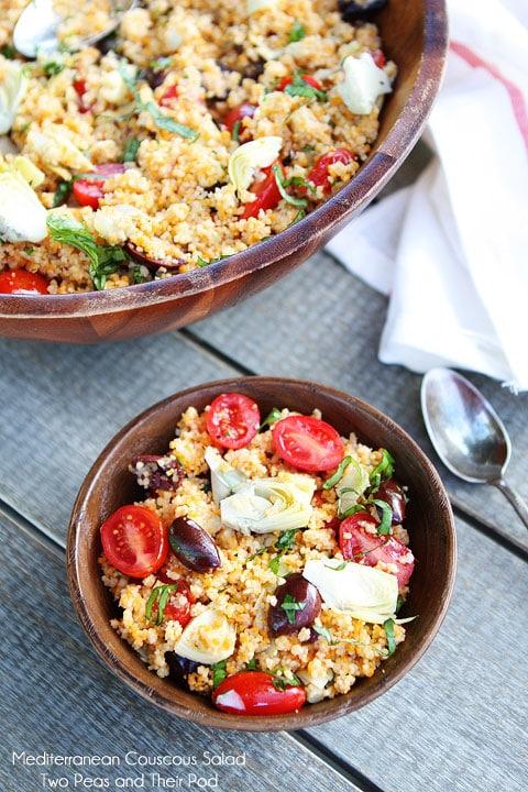 Mediterranean Couscous Salad on twopeasandtheirpod.com