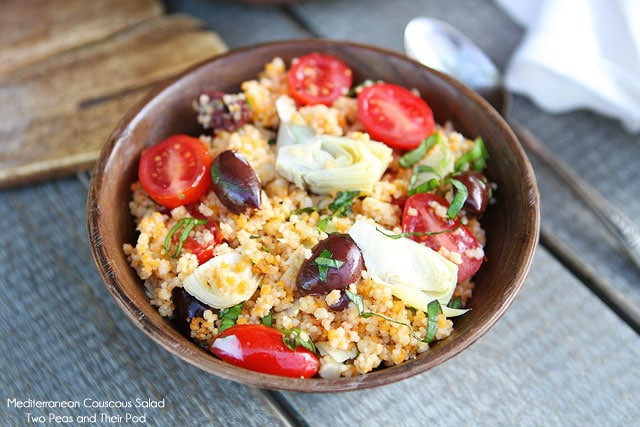 Mediterranean Couscous Salad Recipe on twopeasandtheirpod.com Love this simple salad!