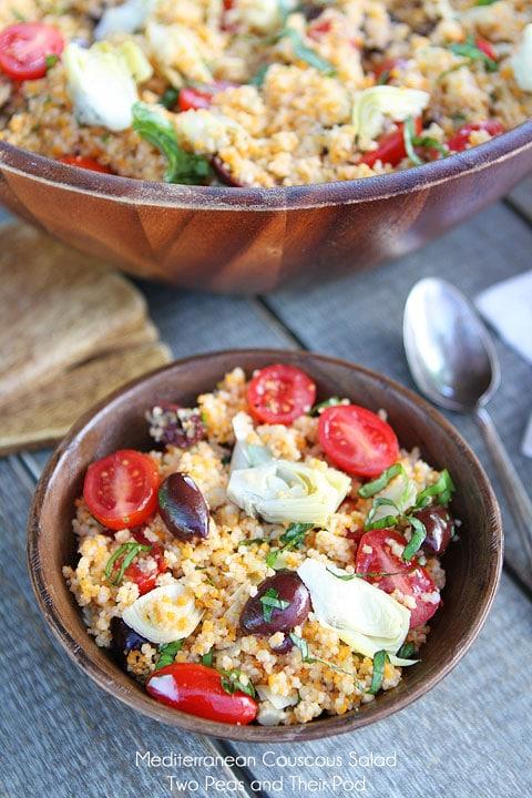 Mediterranean Couscous Salad Recipe on twopeasandtheirpod.com