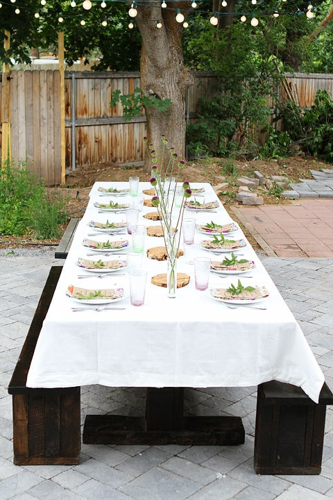 Outdoor Dinner Party on twopeasandtheirpod.com