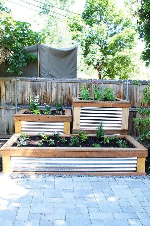 Raised Herb Garden on twopeasandtheirpod.com