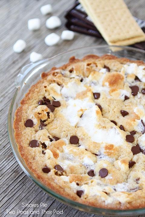 S'mores Pie Recipe on twopeasandtheirpod.com Ooey, gooey, and divine dessert!