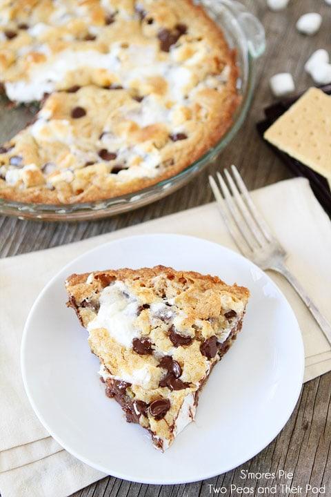 mores Pie Recipe on twopeasandtheirpod.com S'mores heaven! #recipe # ...