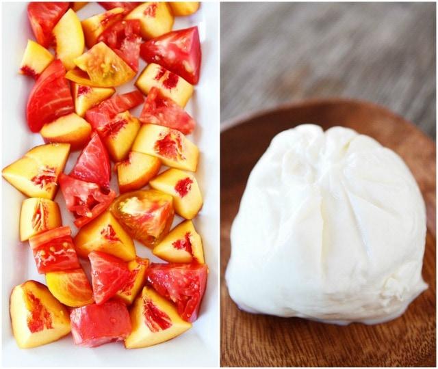Tomato, Peach, & Burrata Salad Recipe | Burrata Salad Recipe | Two ...