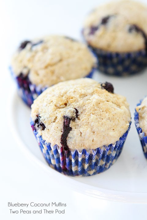 Blueberry Coconut Muffins with triple the coconut-coconut oil, coconut ...