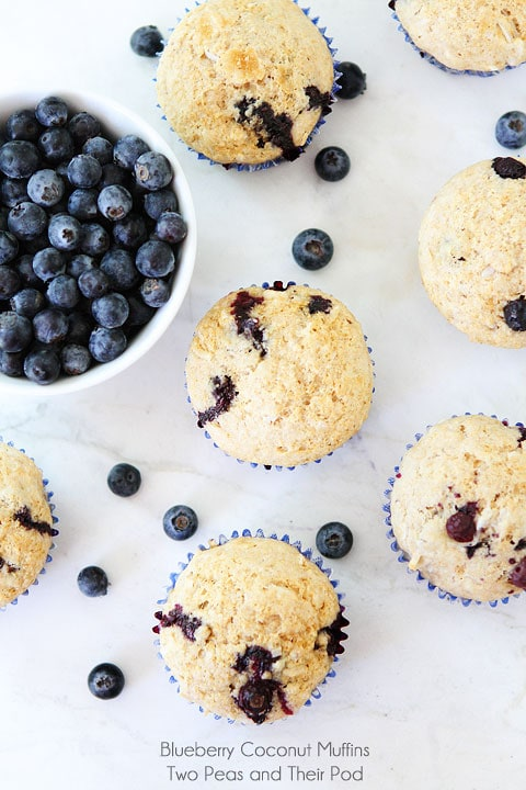 Blueberry Coconut Muffins | Coconut Muffin Recipe | Two Peas & Their ...