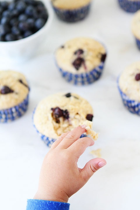 Blueberry Coconut Muffins on twopeasandtheirpod.com Kids and adults love this recipe!