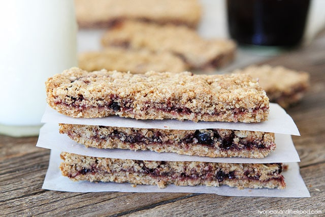 Homemade Fruit-Filled Bars on twopeasandtheirpod.com #recipe