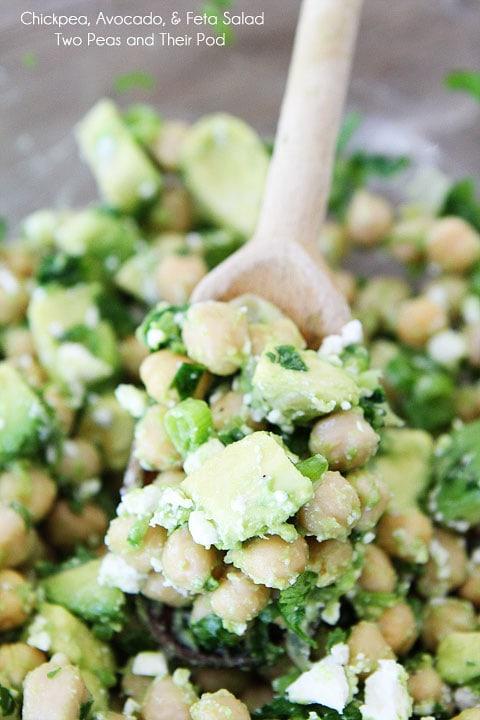 Chickpea, Avocado, & Feta Salad | Chickpea Salad Recipe | Two Peas ...
