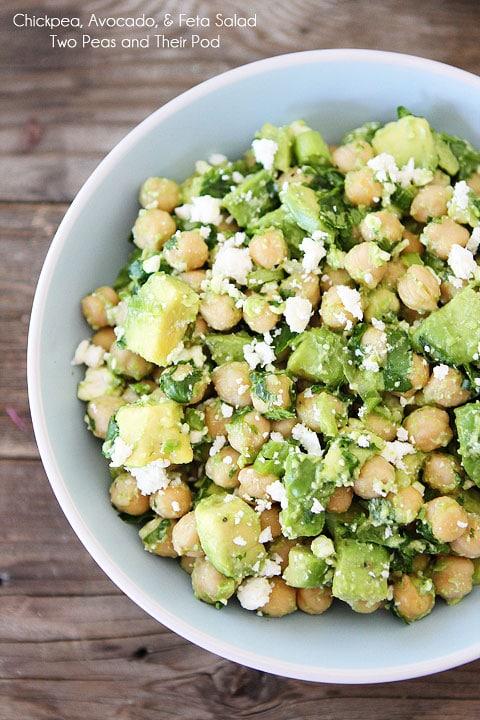 chickpea avocado feta salad chickpea salad recipe two peas chickpea ...