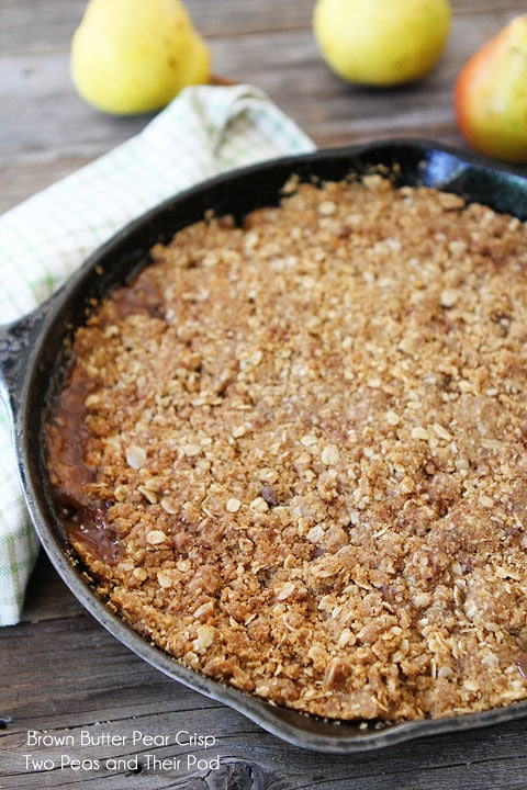 Brown Butter Pear Crisp Recipe | Pear Crisp Recipe | Two Peas & Their ...