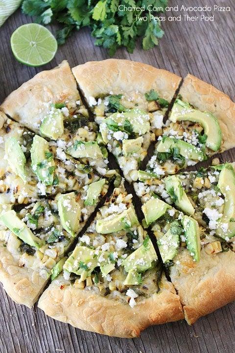 Charred Corn & Avocado Pizza Recipe | Two Peas & Their Pod