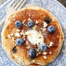 Whole-Wheat-Blueberry-Granola-Pancakes-7