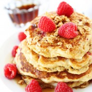 Raspberry-Coconut-Granola-Pancakes-7