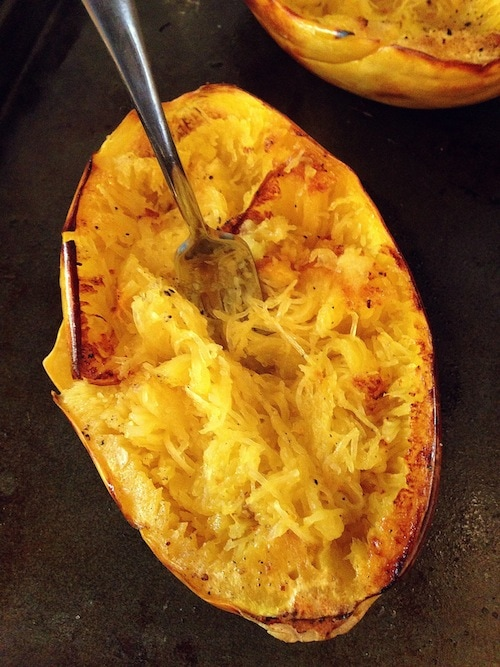 ... Baked Spaghetti Squash with Creamy Roasted Red Pepper Sauce is my fave