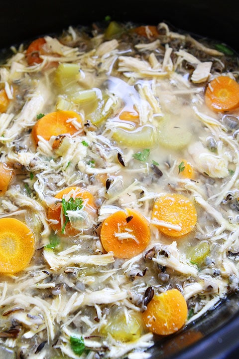 Slow Cooker Chicken and Wild Rice Soup | Crockpot Soup ...