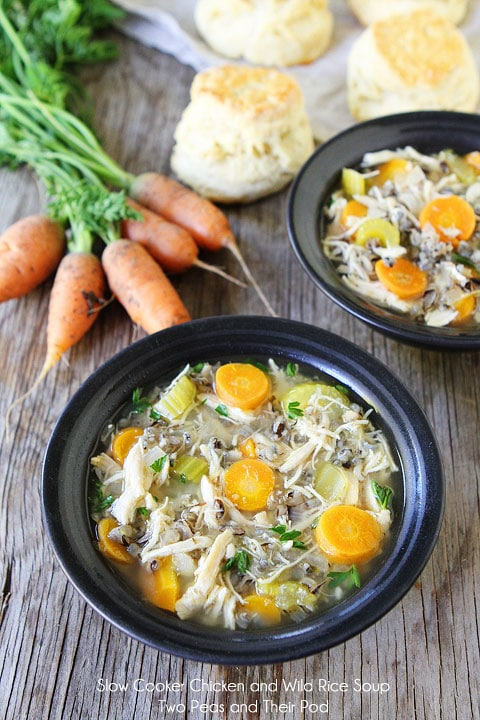 Slow Cooker Chicken and Wild Rice Soup-a healthy and hearty soup that ...