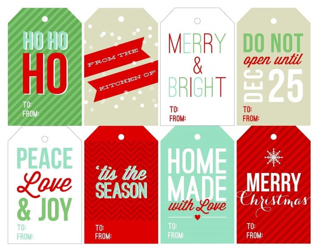 Free Printable Holiday Gift Tags on twopeasandtheirpod.com