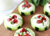 Cucumber-Canapes-with-Whipped-Feta,-Sun-Dried-Tomatoes,-and-Basil-8