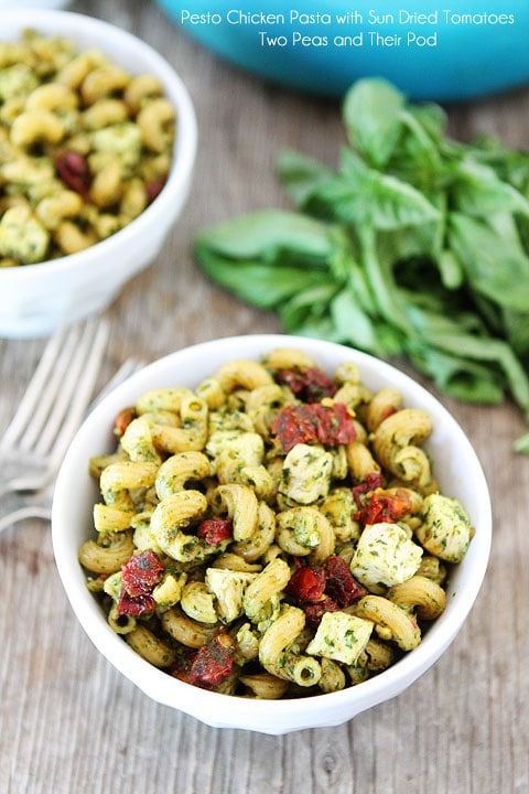 from cookies and sweets to share a savory recipe, Pesto Chicken Pasta ...