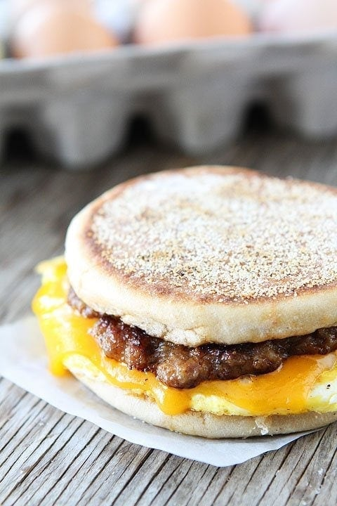 Go Home Thomas' Egg And Sausage Sandwich Recipe — Dishmaps