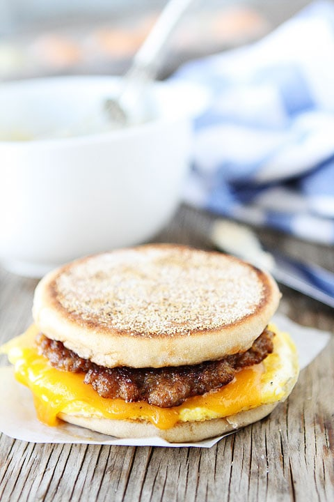 Sausage, Egg, and Cheese Breakfast Sandwich with Maple Butter Recipe ...