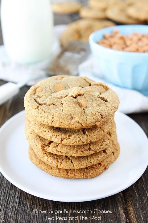 Brown Sugar Butterscotch Cookies | Brown Sugar Cookie ...