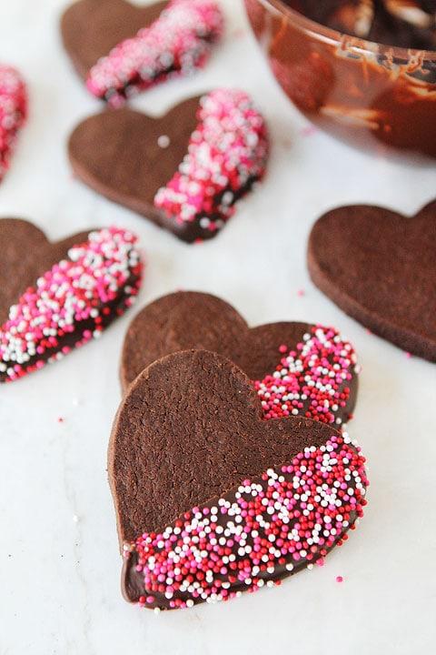 Chocolate Shortbread Recipe | Chocolate-Dipped Shortbread | Two Peas ...