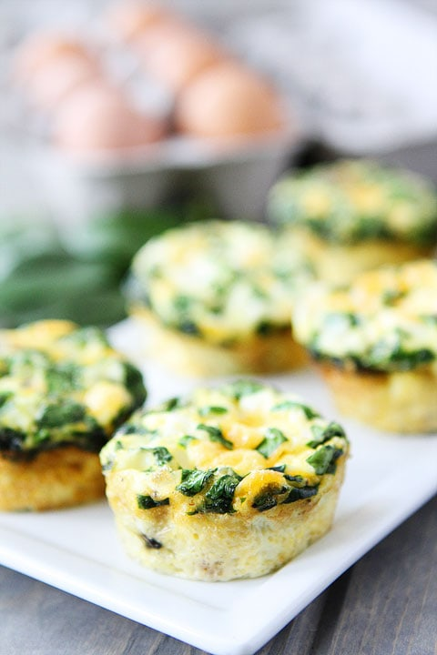 ... adults will love these Egg Muffins with Sausage, Spinach, and Cheese