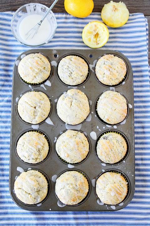 Lemon Poppy Seed Muffins Recipe on twopeasandtheirpod.com A great breakfast treat!