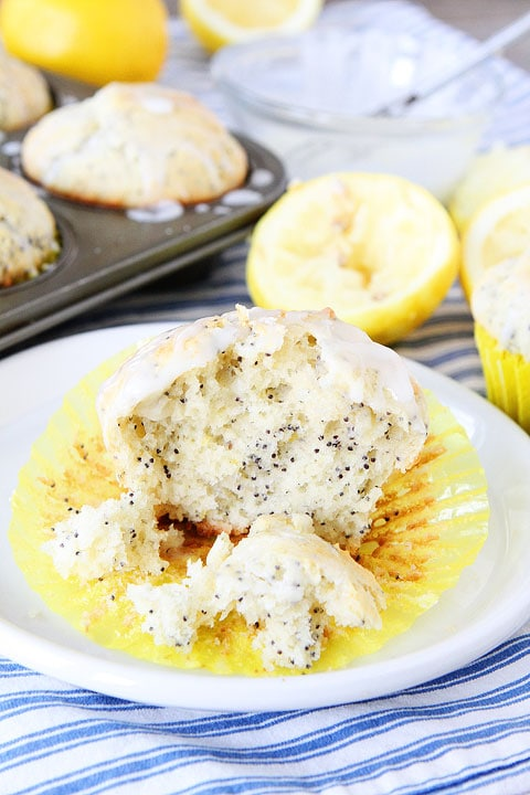 Lemon Poppy Seed Muffins | Lemon Muffin Recipe | Two Peas & Their Pod