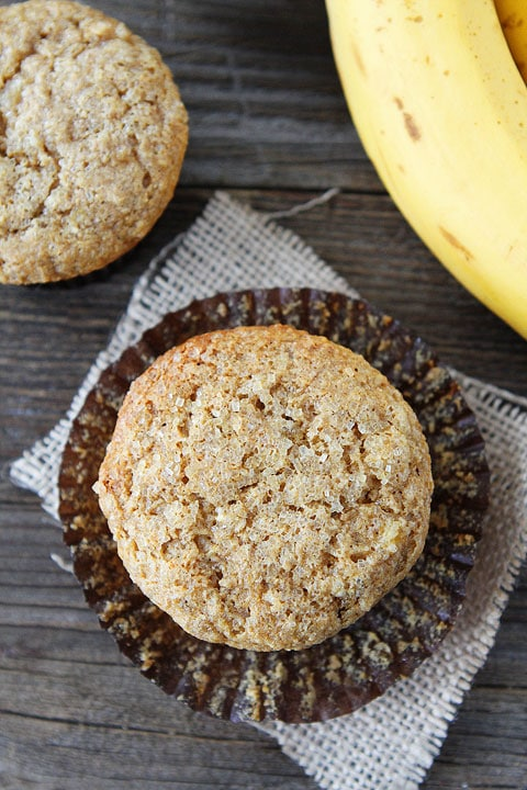 Whole Wheat Banana Muffins | Banana Muffin Recipe | Two Peas & Their ...