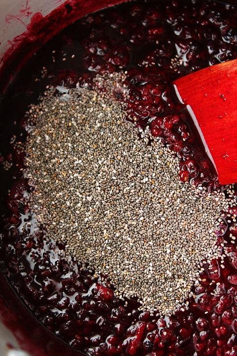 Chia Seed Jam Recipe on twopeasandtheirpod.com