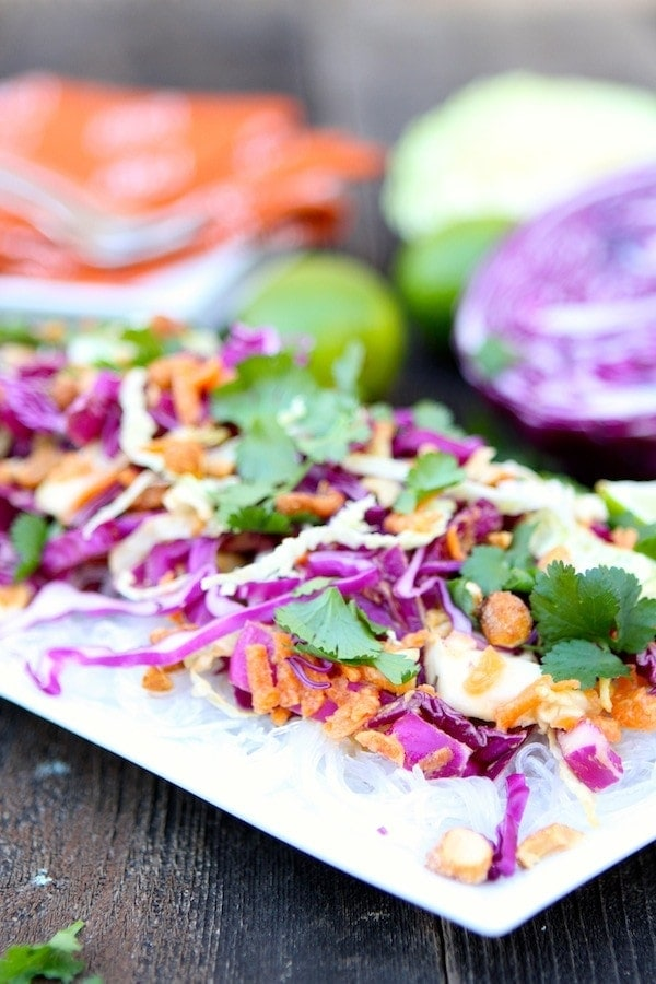 Cabbage and Carrot Salad with Peanut Sauce   Two Peas ...