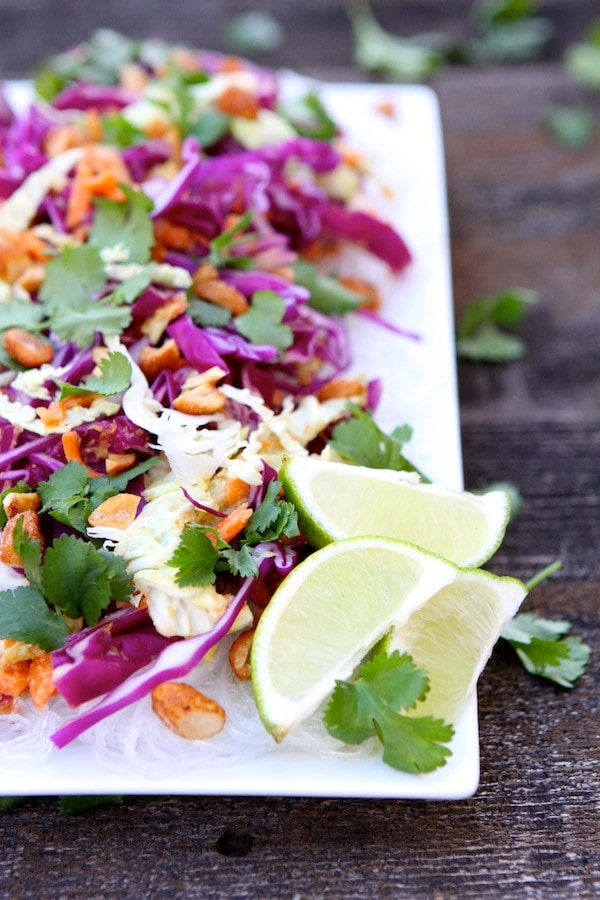Cabbage and Carrot Salad with Peanut Sauce-this salad is fresh ...