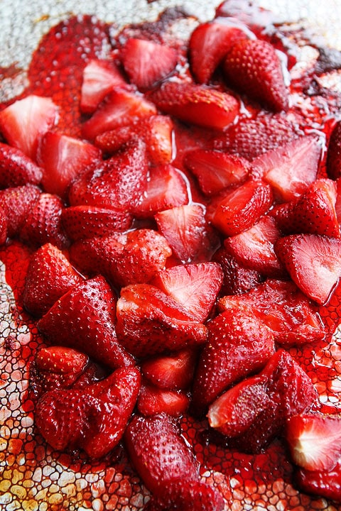 Roasted Strawberry Recipe on twopeasandtheirpod.com So easy and so good!