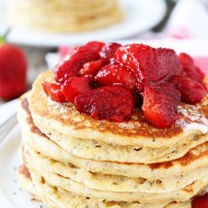 Lemon-Chia-Seed-Pancakes-with-Roasted-Strawberries-6