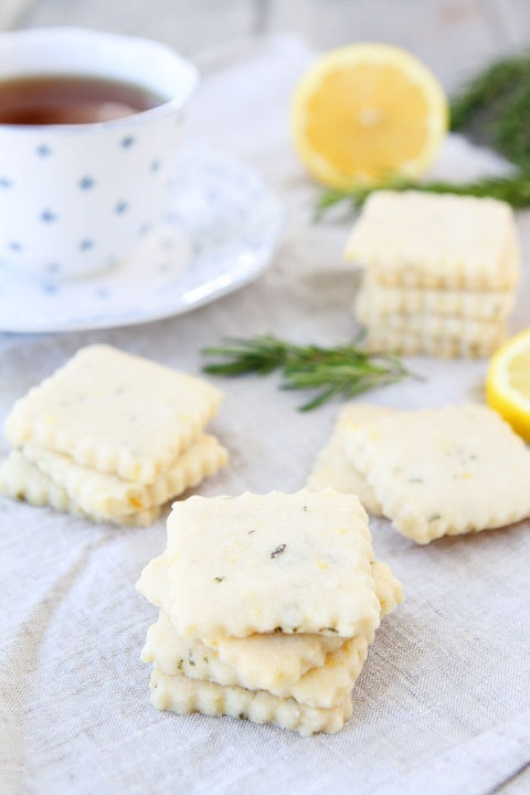 Lemon Rosemary Shortbread Cookie Recipe | Lemon Shortbread | Two Peas ...