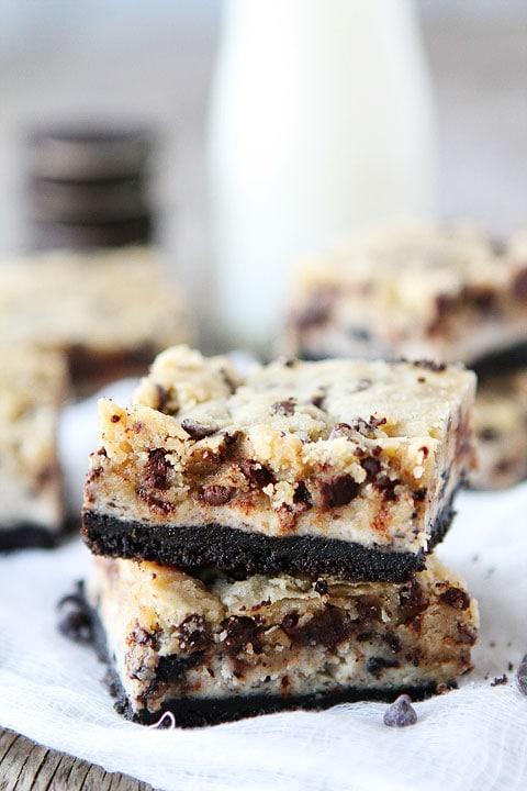 Oreo Cheesecake Cookie Dough Bars Recipe | Cookie Dough Bars | Two ...