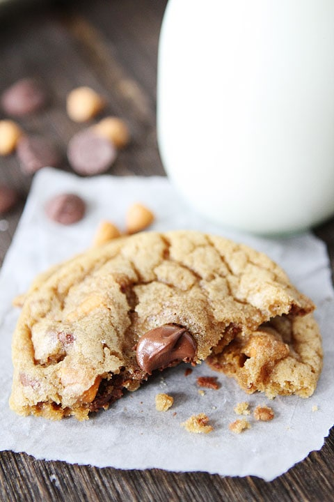 Butterscotch, Toffee, Chocolate Chip Cookies | Cookie Recipe | Two ...