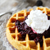 Cornmeal-Waffles-with-Blackberry-Compote-2