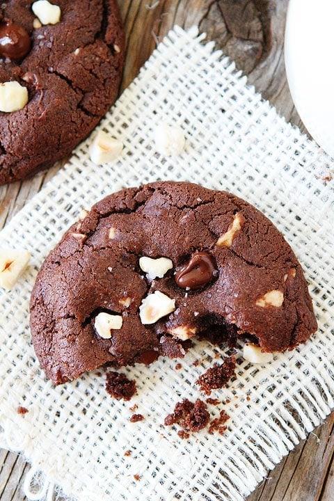 Double Chocolate Hazelnut Cookies with Sea Salt Recipe | Two Peas ...