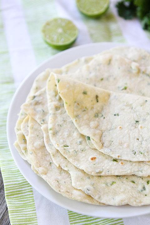 Homemade Flour Tortillas Recipe on twopeasandtheirpod.com Make ...