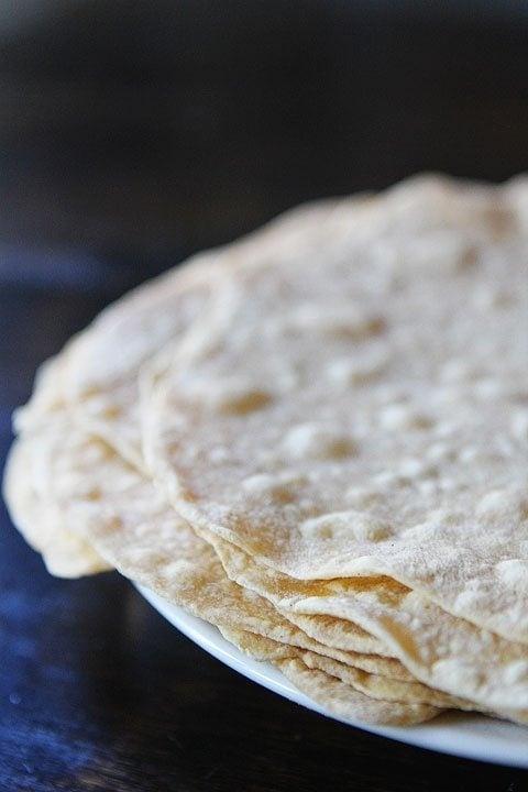 Homemade Flour Tortillas Recipe on twopeasandtheirpod.com We love ...